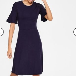 Boden Navy blue Alexis jersey dress 4p